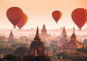 Ballons over Bagan Poster Mural