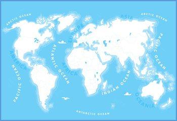 Carte du monde pour les enfants Poster Mural