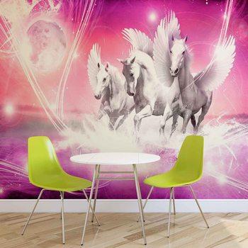 Cheval à ailes Pegasus Pink Poster Mural