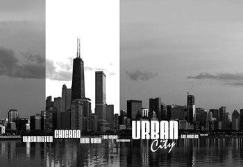 City Skyline Poster Mural
