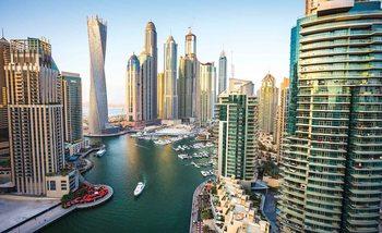 Dubai City Skyline Marina Poster Mural
