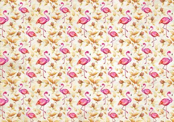 Flamingos Bird Pattern Poster Mural