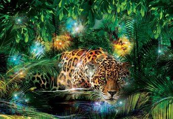 Leopard In Jungle Poster Mural