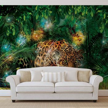 Leopard In Jungle Poster Mural