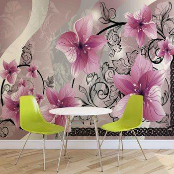Motif floral de fleurs Poster Mural