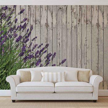 Planches de bois Lavendar Poster Mural
