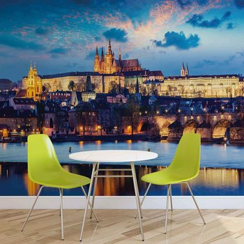 Prague City River Poster Mural