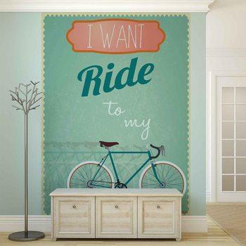Racing Bicycle Retro Poster Mural