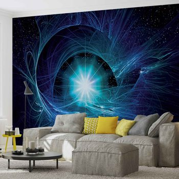 Résumé de l'étoile cosmique Poster Mural