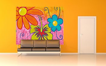 Spring Flowers Poster Mural