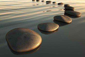 Stones Ripples Zen Poster Mural