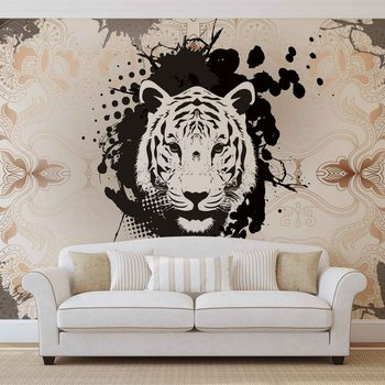 Tiger Abstract Poster Mural