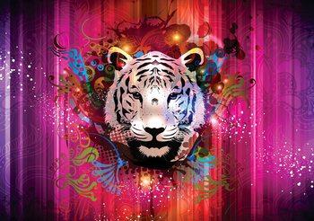 Tiger Abstract Poster Mural