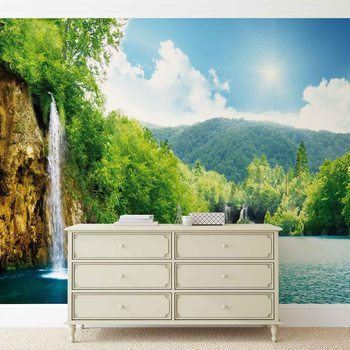 Waterfall Lake Poster Mural