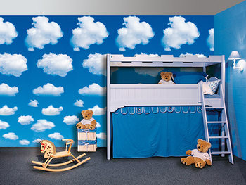 WHITE CLOUDS Poster Mural