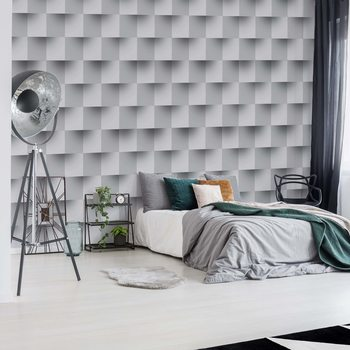 3D Brick Illusion Pattern Wallpaper Mural