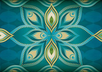 Abstract Art - Mandala Wallpaper Mural