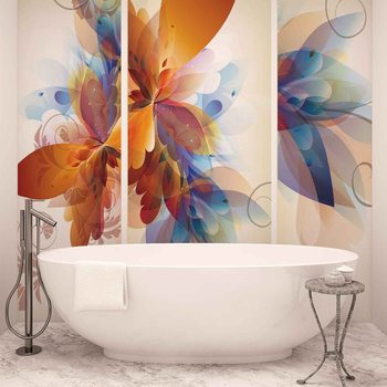Abstract flower Wallpaper Mural