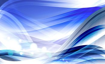 Abstract Light Pattern Blue Wallpaper Mural