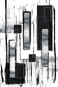 Wallpaper Mural Abstract Painting No. 50 | silver