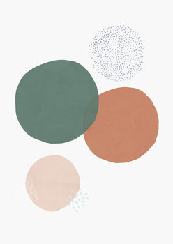 Abstract soft circles Wallpaper Mural