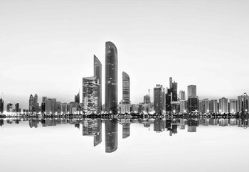 Abu Dhabi Urban Reflection Wallpaper Mural