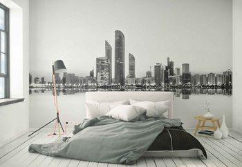 Abu Dhabi Urban Reflection Wallpaper Mural