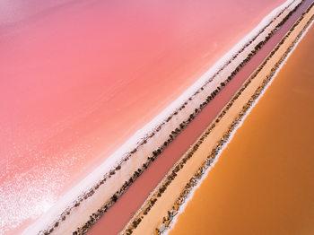 Aerial view of a salt lake Wallpaper Mural