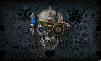 Alchemy  Art Necronaut Skull Wallpaper Mural
