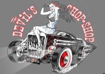 Alchemy Hot Rod Devil Car Wallpaper Mural