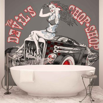 Alchemy Hot Rod Devil Car Wallpaper Mural