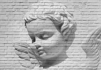 Angel Brick Wall Wallpaper Mural