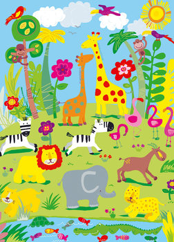 ANIMAL SAFARI Wallpaper Mural