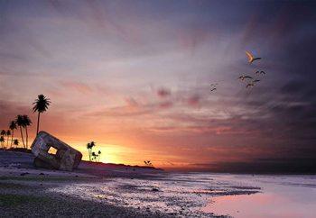 Atomic Sunset! Wallpaper Mural