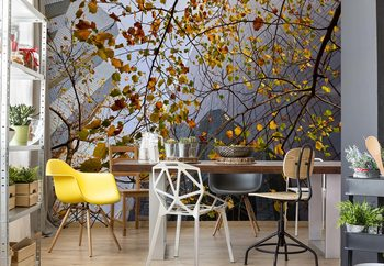 Autumn In The City Wallpaper Mural