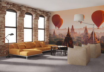 Ballons over Bagan Wallpaper Mural