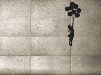 Banksy - Balloon Girl Wallpaper Mural