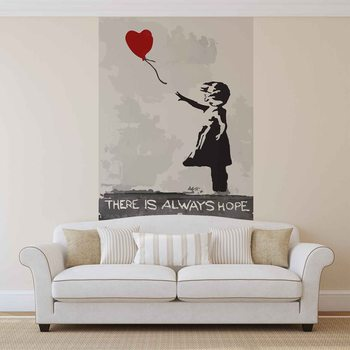 Banksy Street Art Balloon Heart Graffiti Wallpaper Mural