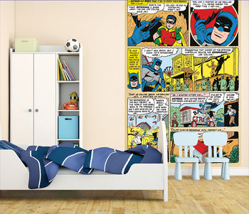 Batman and Robin Comic Wallpaper Mural