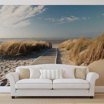 Beach Scene Wallpaper Mural
