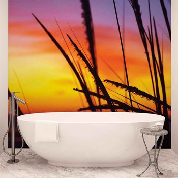 Beach Sunset Wallpaper Mural