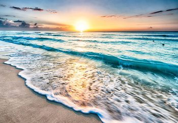 Beach Sunset Wallpaper Mural