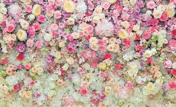 Beautiful Flowers Pastel Colours Wallpaper Mural