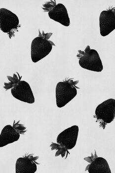 Black strawberries Wallpaper Mural