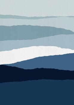 Wallpaper Mural Blue Abstract II