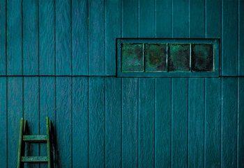 Blue And Green Wallpaper Mural
