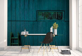 Blue And Green Wallpaper Mural