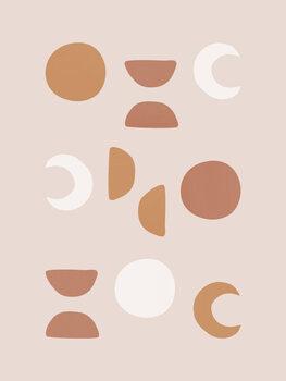 Wallpaper Mural Blush Moon Phases