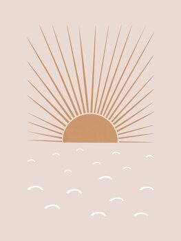 Wallpaper Mural Blush Sun
