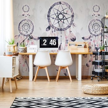 Boho-Chic Dreamcatchers Wallpaper Mural